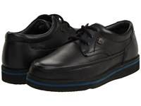 Hush Puppies Mall Walker Black Leather Lace Up Moc Toe Shoes