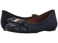 French Sole Yacht Navy Multi Women's Flat Shoes Blue