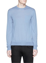 Faconnable Cashmere Silk Sweater Blue