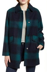 Pendleton Mercer Island Wool Blend Coat Ponderosa Navy