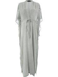 Lost And Found Ria Dunn V Neck Dress Grey