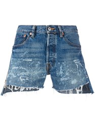Forte Couture Distressed Denim Shorts Women Cotton 27 Blue