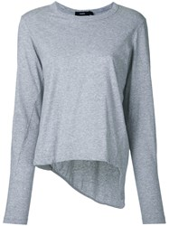 Bassike Classic Fitted Top Women Cotton S Grey