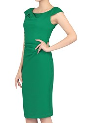 Jolie Moi Ruched 40S Wiggle Dress Green