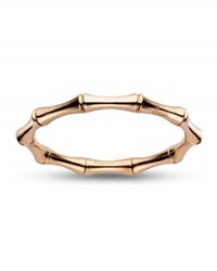Gucci 18K Rose Gold Bamboo Bangle Bracelet