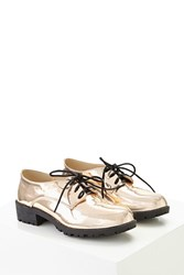 Forever 21 N.Y.L.A. Metallic Oxfords Rose Gold