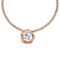 Dower And Hall 18Ct Vermeil Topaz Pendant Necklace Rose Gold