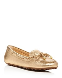 Michael Michael Kors Daisy Metallic Moccasin Loafers Pale Gold