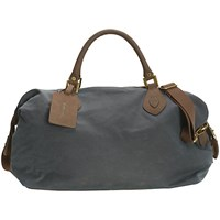 Barbour Wax Cotton Travel Explorer Holdall Navy