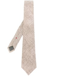 Brunello Cucinelli Plain Tie Brown