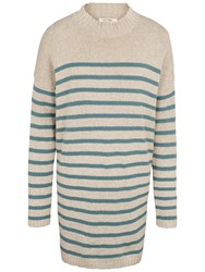 Fat Face Sennan Longline Stripe Jumper Ocean Surf