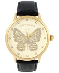 Betsey Johnson Women's Gold Tone Butterfly Patent Leather Strap Watch 42Mm Bj00496 16