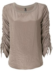 Marc Cain Ruched Sleeve Jumper Grey