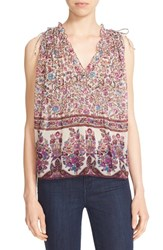 Zadig And Voltaire Women's 'Thym' Pintuck Floral Print Tank