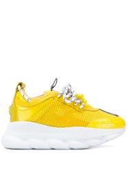 Versace Chunky Platform Sneakers Yellow