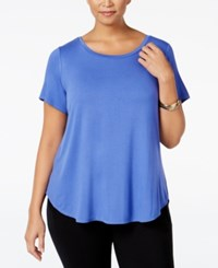 Alfani Plus Size High Low T Shirt Perry Blue