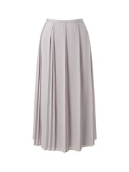 Jacques Vert Placement Pleat Midi Skirt Grey