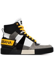 Dolce And Gabbana Hi Top Leather Sneakers Unavailable