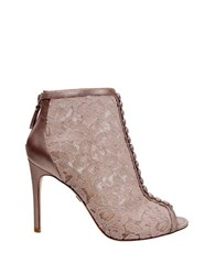Badgley Mischka Nerina Peep Toe Bootie Natural