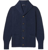 Thom Sweeney Shawl Collar Cashmere Cardigan Navy