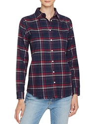 Dl1961 Mercer And Spring Plaid Button Down Shirt The Blue Shirt Shop Navy Burgundy Plaid