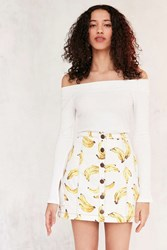 Cooperative Nanners Button Front Skirt Yellow