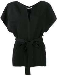 Givenchy Belted Blouse Black