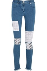 House Of Holland Appliqued Mid Rise Skinny Jeans