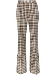 Beaufille Moretti Turned Up Cuff Straight Leg Trousers Neutrals