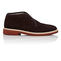 Ermenegildo Zegna Men's Suede Chukka Boots Dark Brown