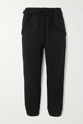 Simone Rocha Tulle Trimmed Jersey Track Pants Black