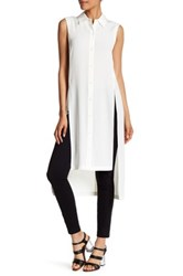 Dkny Sleeveless Slit Hi Lo Tunic White