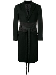 D.Gnak Fitted Double Breasted Coat Black