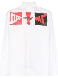 Gosha Rubchinskiy Printed Button Shirt White