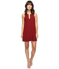 Brigitte Bailey Davetta Sleeveless Dress With Gold Bar Dark Red Women's Dress
