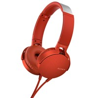 Sony Mdr Xb550ap Extra Bass On Ear Headphones With Mic Remote Red