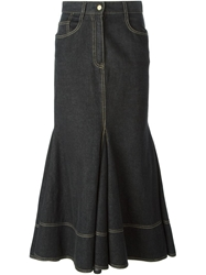 Moschino Vintage Flared Denim Skirt