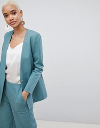 Selected 80'S Blazer With Gold Button Green