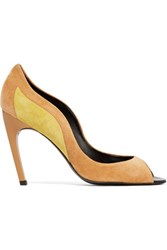 Roger Vivier Two Tone Suede Pumps Sand