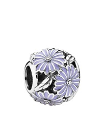 Pandora Design Pandora Charm Sterling Silver And Enamel Daisy Meadow Moments Collection Lavender