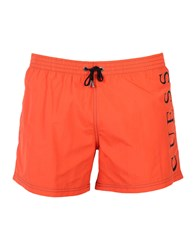Guess Swim Trunks Red