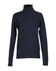 Revolution Knitwear Turtlenecks Men Dark Blue