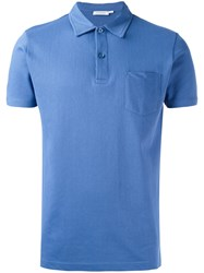 Sunspel Polo Shirt Blue