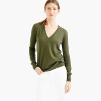 J.Crew Collection Featherweight Cashmere Classic V Neck Sweater