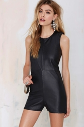 Nasty Gal Holystone Holy Chasers Leather Shift Romper