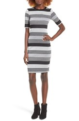 Socialite Women's Stripe Midi Body Con Dress