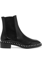 Stuart Weitzman Cline Faux Pearl Embellished Leather Chelsea Boots Black