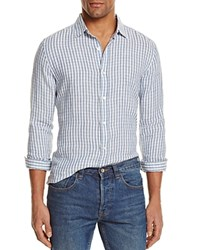 Bloomingdale's The Men's Store At Linen Check Regular Fit Button Down Shirt Moonlight Combo