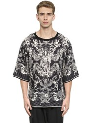 Dolce And Gabbana Mary With Child Printed Linen T Shirt