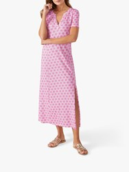 Pure Collection Jersey Maxi Dress Bright Pink Tile